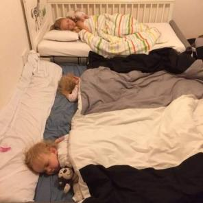 floor bed twins and sibling